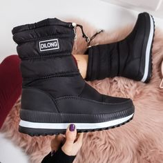 Cizme Aneirin negre de zapada Boots, Winter, Casual, Fashion, Crotch Boots, Moda, Heeled Boots, Shoe Boot, Fasion