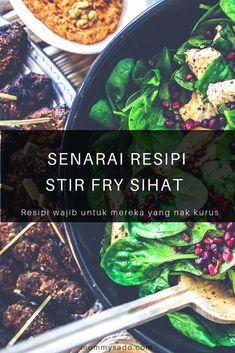 8 Senarai Resipi Stir Fry Sihat Yang Boleh Dicuba Stir Fry, Asparagus, Fries, Protein, Lemon, Vegetarian, Recipes, Studs, Recipies