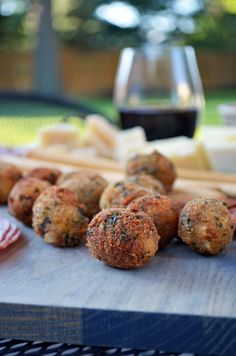 Fried Olives Stuffed with Italian Sausage and Goat Cheese | blog.hostthetoast.com