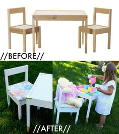 IKEA LATT Table   Chairs Hack