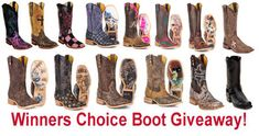 Win your choice of any boot we sell. Ends Mar 31, 2016. You may enter once each day. (up to $325 in value) We Love our Fans!