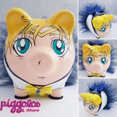 Sailor Uranus, Pigs, Piggy Bank, Dyi, Nerdy, Craft Ideas, Diy Crafts, Handmade, Teacup Pigs