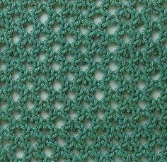Two gorgeous mesh knitting stitch patterns. More Great Patterns Like This