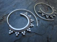 Tribal Spiral Hoops by SBJewelry on Etsy, $55.00
