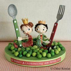 The Prince and Princess pea, OOAK dolls