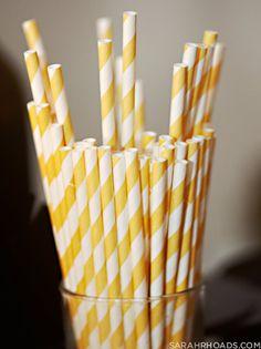 yellow striped straws!