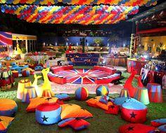 Confira em detalhes a decoração da Festa Circo - fotos em noticias - BBB