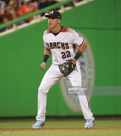 Jake Lamb #22 of the Arizona Diamondbacks and the National League fields his position during the 88th MLB All-Star Game at Marlins Park on July 11, 2017 in Miami, Florida.