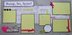 BUMP SET SPIKE 12x12 Premade Scrapbook Pages GiRL -- VoLLeyBaLL