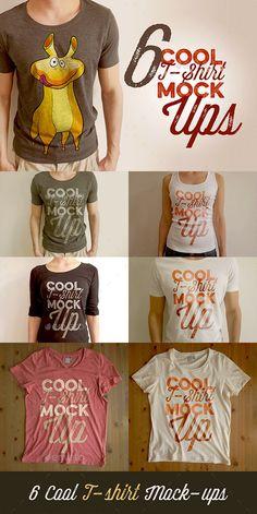 6 Retro/Vintage Style T-shirt Mock-ups #tshirtmockup #mockup Download: http://graphicriver.net/item/6-retrovintage-style-tshirt-mockups/10550347?ref=ksioks