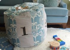Easy as 1, 2, 3 Numbers Floor Pouf