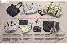 Thirty-One Summer 2012 Catalog - pgs 18-19 - Retro Metro - Style Simplified - The New Retro Metro Collection
