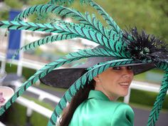 hats at british royal ascot | with Pin-It-Button on http://www.thefrisky.com/photos/all-the-crazy-hats-at-the-british-royal-ascot/feathers/