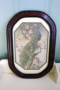 Hey, I found this really awesome Etsy listing at https://www.etsy.com/listing/248936462/framed-peacock-print-wall-art-gesso