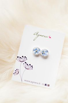 Forget me not studs Small earrings for kids Real flower Kids Earrings, Small Earrings, Unique Earrings, Flower Earrings, Something Blue Wedding, Eco Resin, Blue Weddings, Real Plants, Forget Me Not