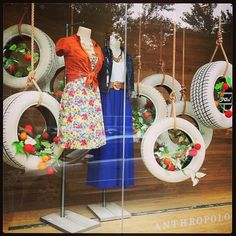 WordLess WednesDay ~ Spring Window Displays « All Around The Circle – Expolore the best and the special ideas about Store window displays Spring Window Display, Window Display Retail, Window Display Design, Retail Windows, Store Windows, Fashion Window Display, Display Windows, Merchandising Displays, Store Displays