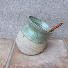 Salt pig or cellar hand thrown terracotta pottery handmade ceramic wheelthrown Salt Pig, Hand Thrown Pottery, Pottery Techniques, Pottery Wheel, Mortar And Pestle, Pottery Ideas, Stoneware Clay, Acacia Wood, Cellar