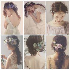 * * Autumn wedding hair * * ヌケ感のある エフォートレスヘアが オススメです * * @maisonsuzu のドレスにも エフォートレスヘアが 似合います♡ * * モデル @miiiyaaakooo ♡ * * #ヘアアレンジ #ウェディング #fashion Fall Wedding Hairstyles, Bride Hairstyles, Hairstyles Haircuts, Pretty Hairstyles, Bridal Makeup, Wedding Makeup, Bridal Hair, Bohemian Wedding Hair, Wedding Hair Pieces