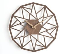 oversized wall clock 30 cm 12 in modern wooden clock