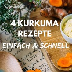 4 einfache und schnelle Kurkuma Rezepte Turmeric is an unbeatable spice. It has anti-inflammatory and many health benefits. So take turmeric more often! Water Recipes, Detox Recipes, Smoothie Recipes, Fast Recipes, Fat Burning Detox Drinks, Fat Burning Foods, Turmeric Recipes, Carbohydrate Diet, Recipe For 4