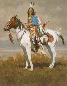 "Spirit of the Plains by Howard Terpning LIMITED EDITION CANVAS Image size: 21""w x 27""h."