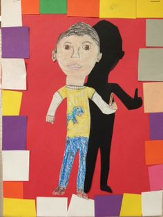 Melanie Lupien Art Class: 2nd Grade Art Lesson - Me and my Shadow. http://thecolorfulartpalette.blogspot.com/
