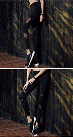 c0c7ebcbae KIWI RATA Women Sports Mesh Trouser Gym Workout Fitness Capris Yoga Pant  Legging at Amazon Women s