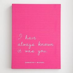Art/Wall Decor - personalized i have always known wall art - I have always known it was you, art