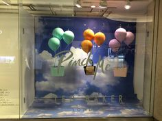 Ted Baker window display. Mix of balloons and color story.
