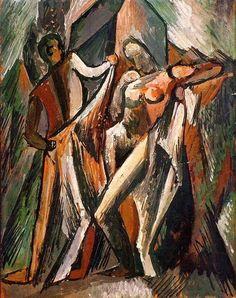 """Pablo Picasso - """"Baigneurs qui se sechent"""". 1909"""