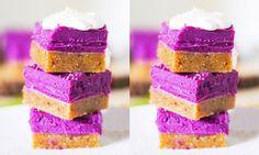 Nyttig efterrätt: Raw food-rutor med lila sötpotatis
