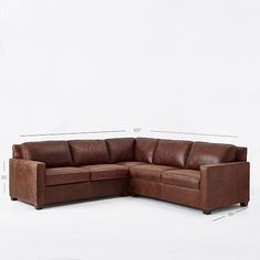 Henry 3-Piece L-Shaped Sectional - Leather | West Elm not sure I want a sectional…but if I do… :)
