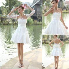 lace jacket designer short wedding dresses