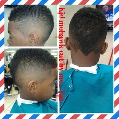 Kid mohawk cut by me... Taz