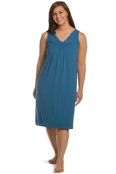 59c5930447 Tranquil Dreams Sleeveless Nightgown  Ecofabric  Organic Cotton   Bamb – Fishers  Finery Nightgown