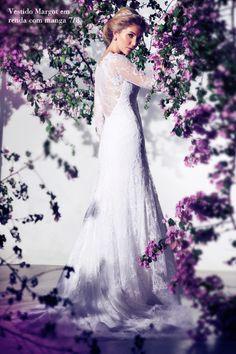 Casamento - Vestido de Renda de Noiva: Danielle Benício (Foto: Márcio Rodrigues)