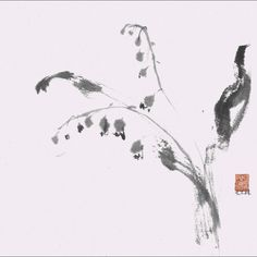 """""""Delicate  Simplicity"""" A Sumi-e Painting www.lilithohan.com"""