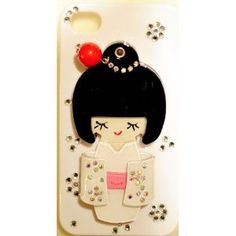 3-D iPhone Case With Cute Japanese Doll on It