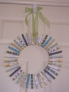clothes pin wreath