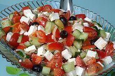 Griechischer Bauernsalat (Rezept mit Bild) von celine2103   Chefkoch.de