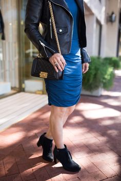 90aec1cf50ba We are styling this fabulous blue turtleneck side ruched dress this week  for Chic at Every Age! Naturalizer · Girls  Night Out ·  NastiaLiukin gets  ready ...