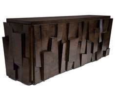 Contemporary sideboard table in reclaimed wood FACETED Hudson Furniture Cabinet Furniture, Wooden Furniture, Table Furniture, Furniture Design, Furniture Nyc, Brutalist Furniture, Sideboard Table, Console Tables, Dining Tables