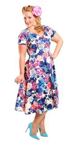Gorgeous Elly Mayday in our Sabrina Dress- Royal Garden #cherryvelvetdresses