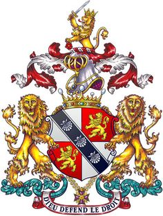 The Coat of Arms of H. E. Brent, Viscount Spencer of Gerasa Grand Master of the Order of Christian Knights of the Rose