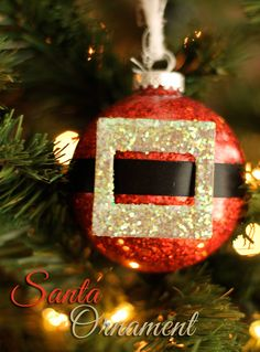 Easy Handmade Santa Christmas Ornament Tutorial