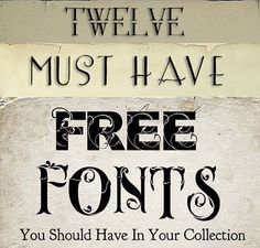 12 must-have free fonts!