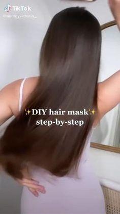 Hair Tips Video, Long Hair Tips, Hair Videos, Diy Hair Treatment, Natural Hair Treatments, Hair Growing Tips, Best Hair Mask, Healthy Hair Tips, Tips Belleza