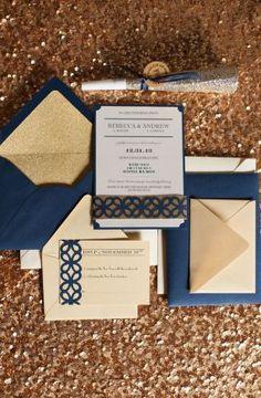 Inspirations pour un mariage doré | Détails Carterie Papeterie Dorée| La Mariée Sous Les Etoiles | © Blue Rose Photography