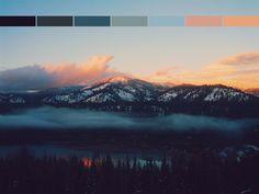 landscape orange black blue colors nature sunset light blue g dark blue color palette Horizontal