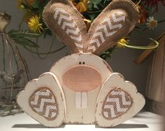Wood slice chickie magnets Easter chickie door TheTatteredPallet